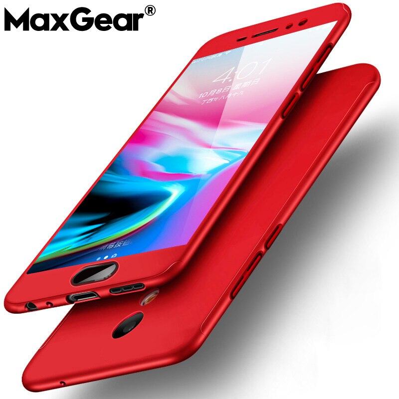 MaxGear 360 מלא הגנת טלפון כיסוי מקרה עבור Meizu Pro 7 מצויד Case כיסוי עבור Meizu M6 MS6 M2E M3E m3 M5 M6 הערה קליפה קשה