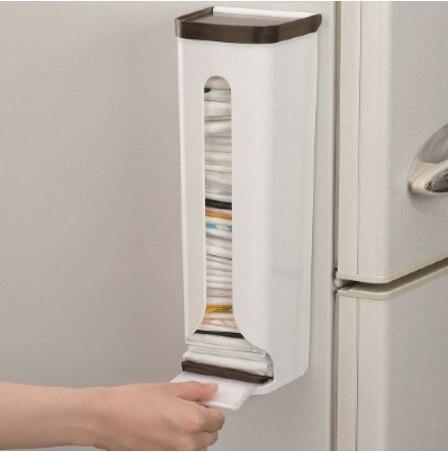 Nuevo organizador de cocina, estantes de almacenamiento portátiles para el hogar, caja de almacenamiento de plástico, colgador de pared, bolsas de basura para baño, soportes