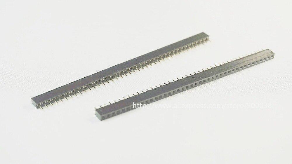 رأس دبوس أنثى PCB ، 1x40 P ، 40 دبوس 100 مللي متر ، صف واحد مستقيم من خلال ثقب عازل ، ارتفاع 2.0 مللي متر ، Rohs ، 4.30 قطعة