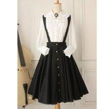 Sur mesure ~ Vintage femmes pull jupe gothique une ligne patineuse jupe grande taille boutonné jupe Midi