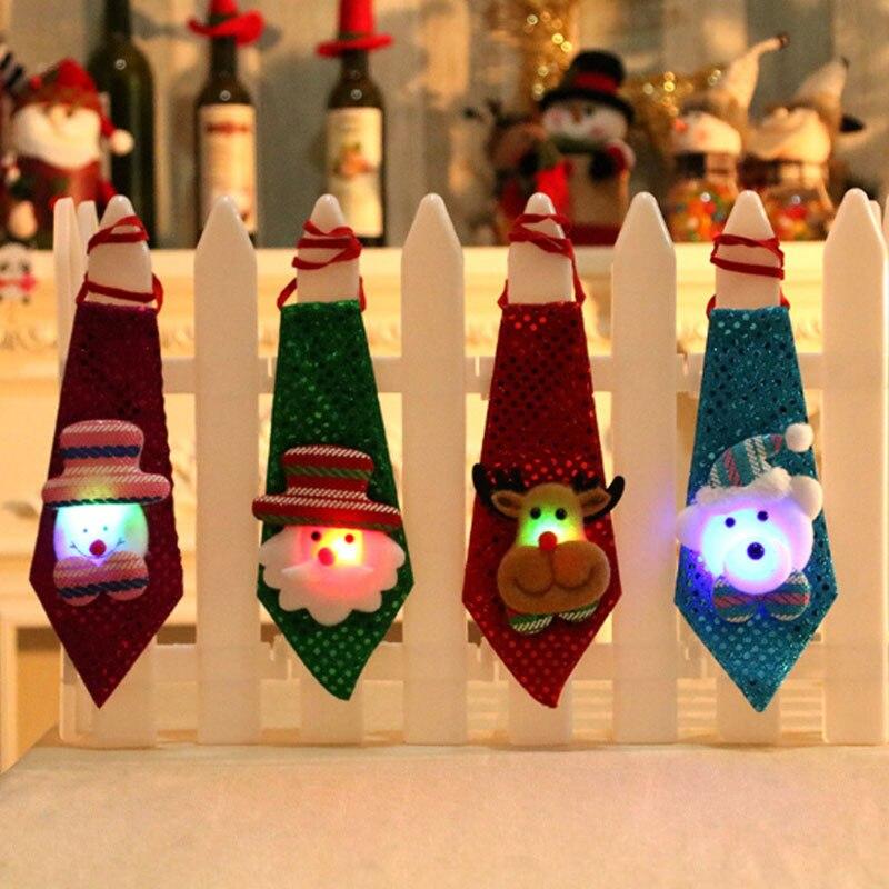 Laço de Lantejoulas de Papai Noel Do Boneco de neve de natal Partido Ajustável Bow Tie Crianças Gravata Roupas