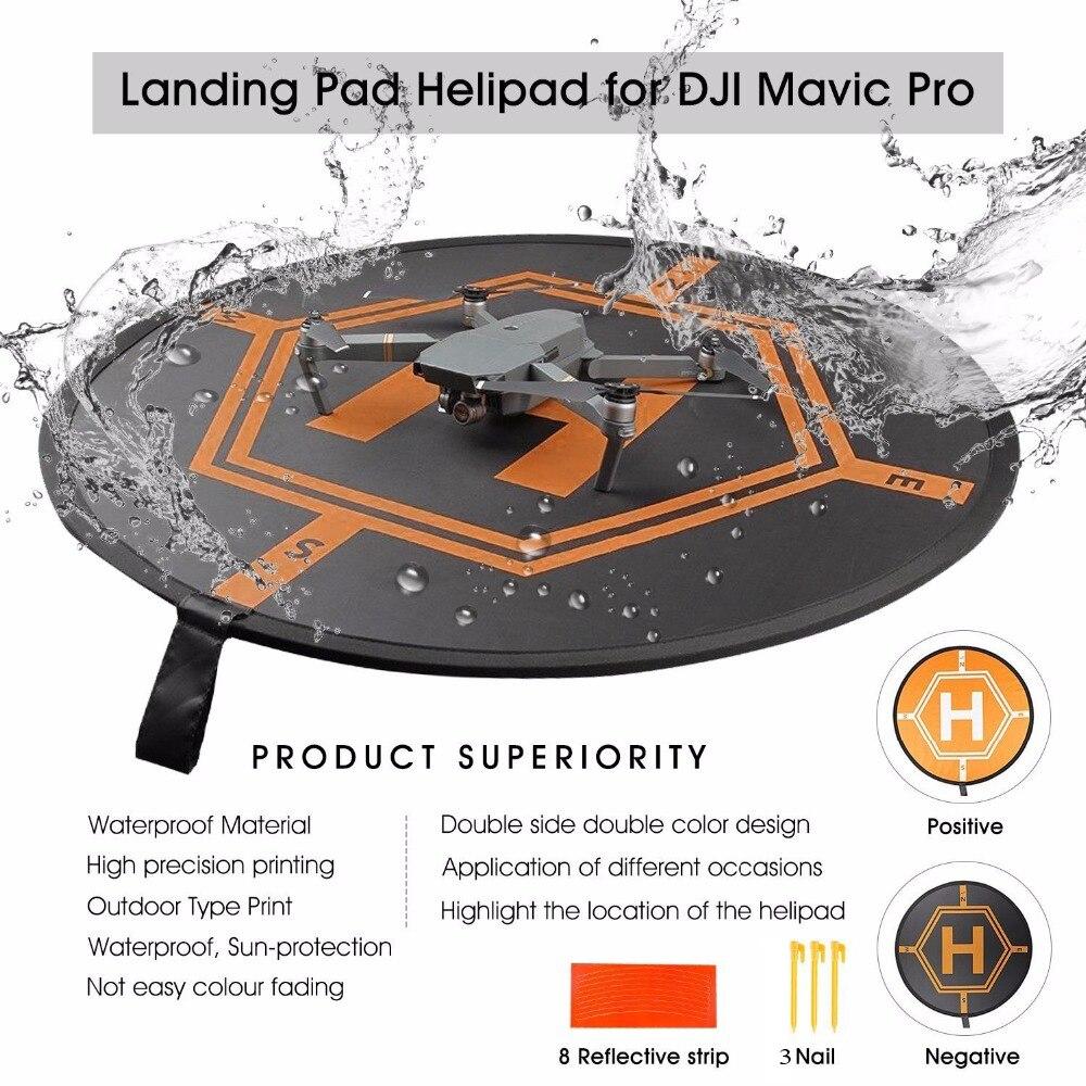 DJI Drone de plegado rápido luminoso estacionamiento delantal plegable aterrizaje Pad 80CM para Mavic mini/2 Pro Mavic/Air Phantom 3 4 Inspire 1 2