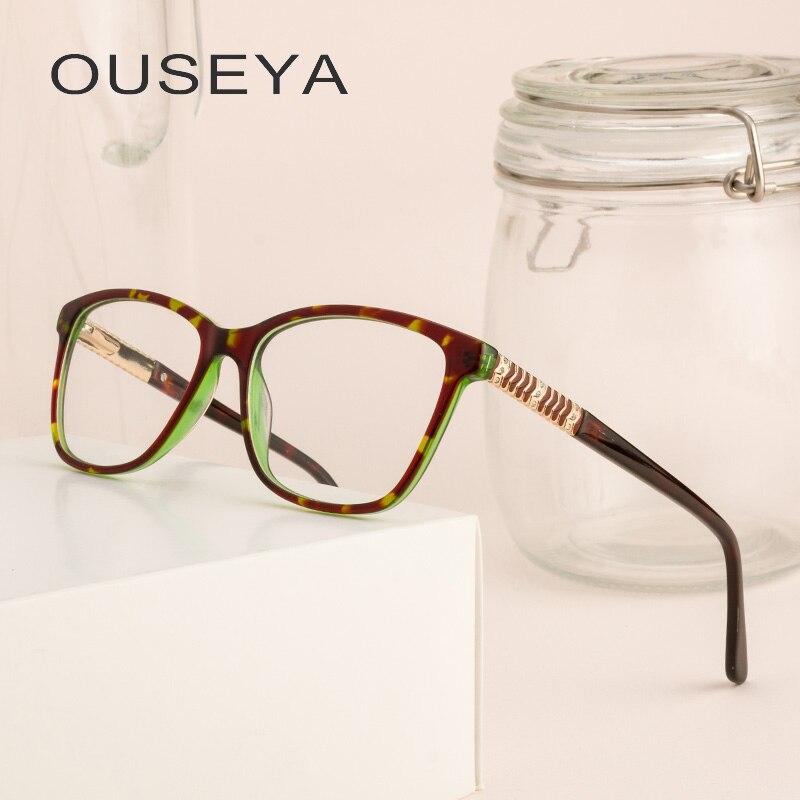 Montura De gafas De acetato para mujer, gafas Ópticas Clásicas Retro transparentes De lujo a la moda para mujer, gafas De Armacao De # F8861