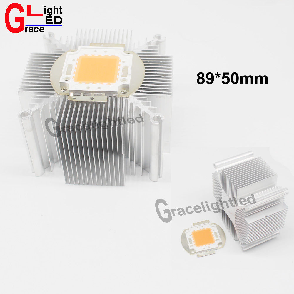 5pcs 89*50mm 20w 30w 50 Watt High Power LED Heatsink cooller F Growth Plant light DIY