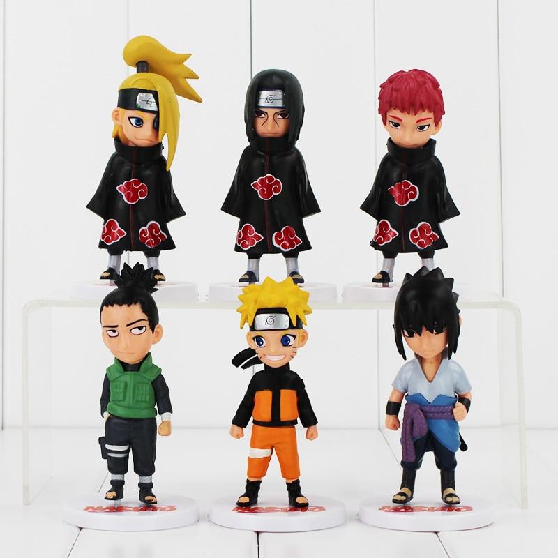 Naruto q versão sasori sasori sasori sasuke itachi deidara com base 12cm legal modelo de brinquedo pçs/lote