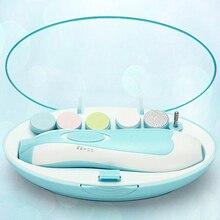 Nouveau bébé sûr coupe-ongles coupe électrique bébé coupe-ongles bébé ciseaux bébés soins des ongles infantile coupe-ongles ensemble de manucure
