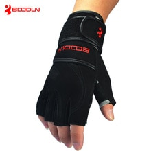 Echtes Leder männer Halbe Finger Crossfit Handschuhe Nicht Beleg Gym Fitness Handschuhe Hantel Sport Bodybuilding Gewichtheben Handschuhe