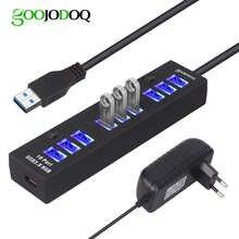 USB-разветвитель GOOJODOQ, 10 портов, 5 В, 2 А