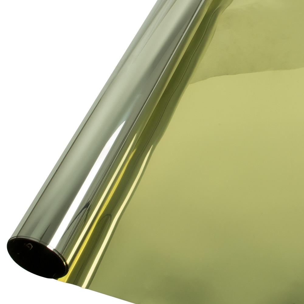 50cm x 600cm Gold&silver Silver Insulation Window Film Stickers Solar Reflective One Way Mirror Home Office sticker