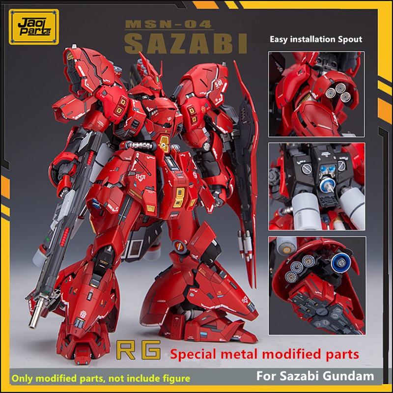 JAOparts Metal Modified parts set for Bandai RG 1/144 MSN-04 Sazabi Gundam with decal & etched sheet DJ026