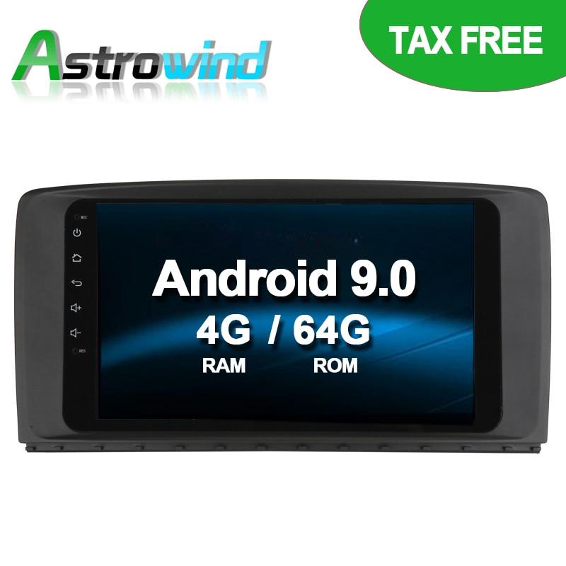 Reproductor de DVD para coche Android 9,0 de 64G ROM, sistema de navegación GPS, Radio de vídeo estéreo para Mercedes Benz R280 R300 R350 R500 W251