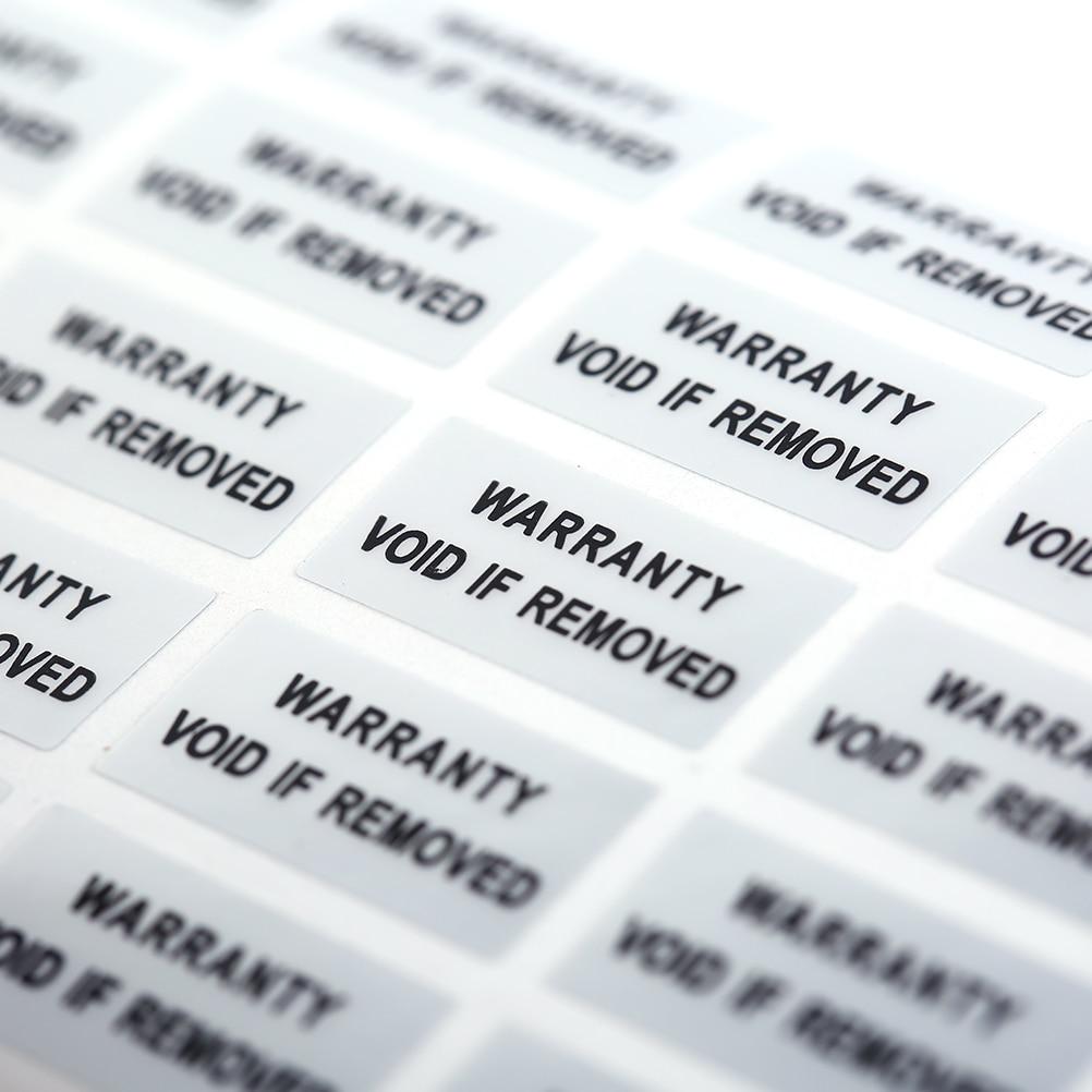 300 pieces Printed Security Seals Tamper Evident Warranty Void Labels Sticker Seals