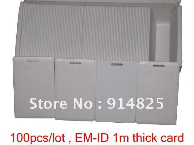 DWE CC RF 100pcs/lot  +1M EM-ID rfid 1.8MM Clamshell Smart Long range Card   reading range 70-100cm