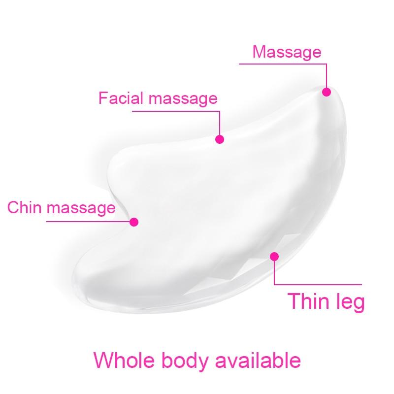 1 Pcs Transparent Scraping Board Face Facial Massage Tools Beauty Health Massager TK-ing