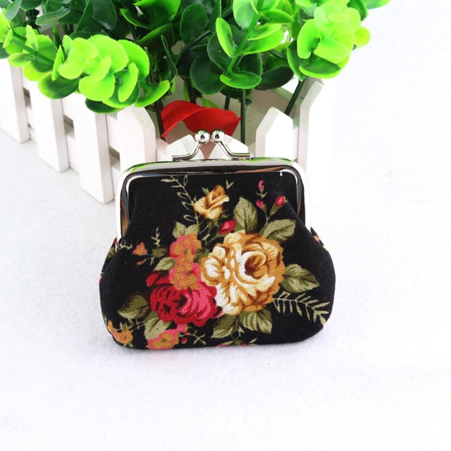 Женский кошелек с цветочным узором, 2016