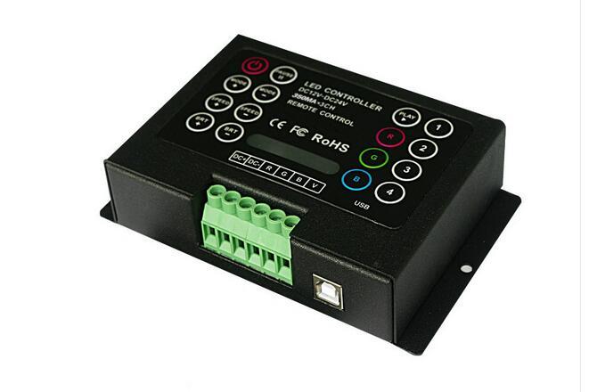 Controlador RGB BC-380-700 LED 700mA/CH * 3 IR control remoto LED de pared controlador RGB