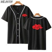 WEJNXIN nueva oferta chaqueta de béisbol Naruto traje de akatsuki Anime camisa de béisbol camisetas de manga corta Hip Hop Uchiha Itachi ropa de calle
