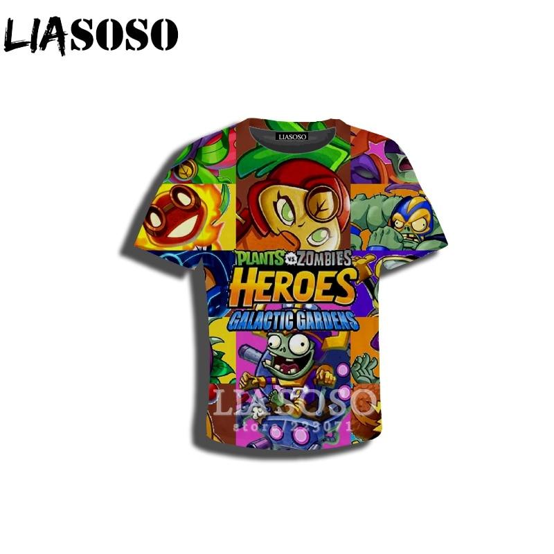 LIASOSO/Новый Детский свитер футболка с 3D принтом Растения против Зомби детские