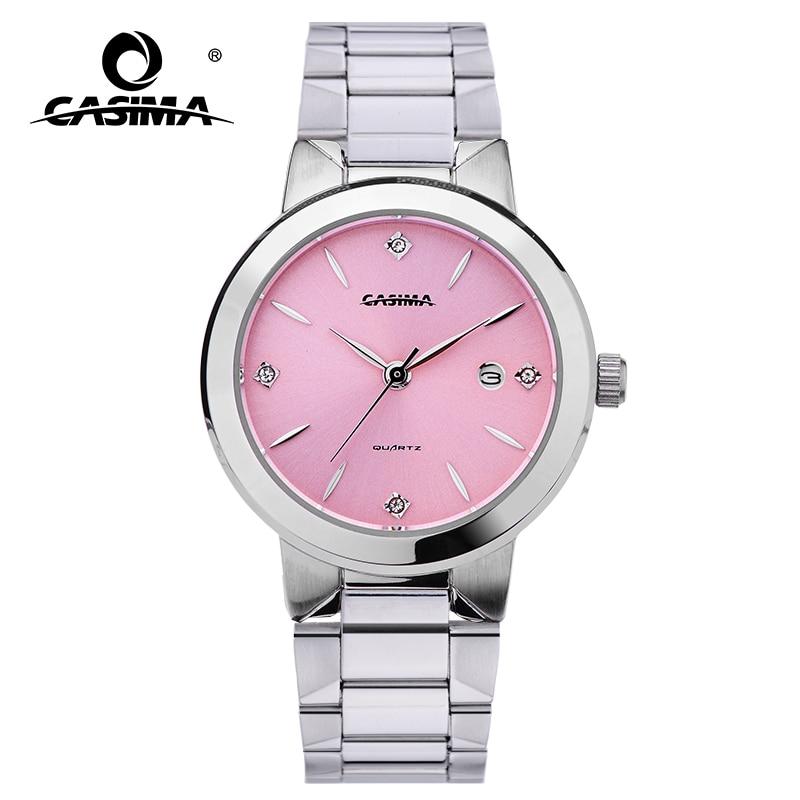 2020 CASIMA אופנה צמיד שעונים נשים מקרית גבירותיי קוורץ אנלוגי יד שעון נשים של עמיד למים נירוסטה 5122