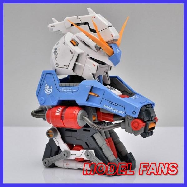 FÃS MODELO IN-STOCK assembléia RX-93 oi V Gundam Gundam modelo 135 busto Cabeça Laranja presente brinquedo Armadura Exterior figura de ação presente