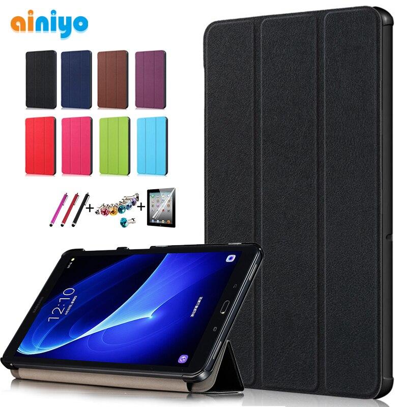 Gran calidad Smart Flip funda para Samsung Galaxy Tab A 10,1 2016 T585 T580 SM-T580 T580N funda + regalo + Protector de pantalla