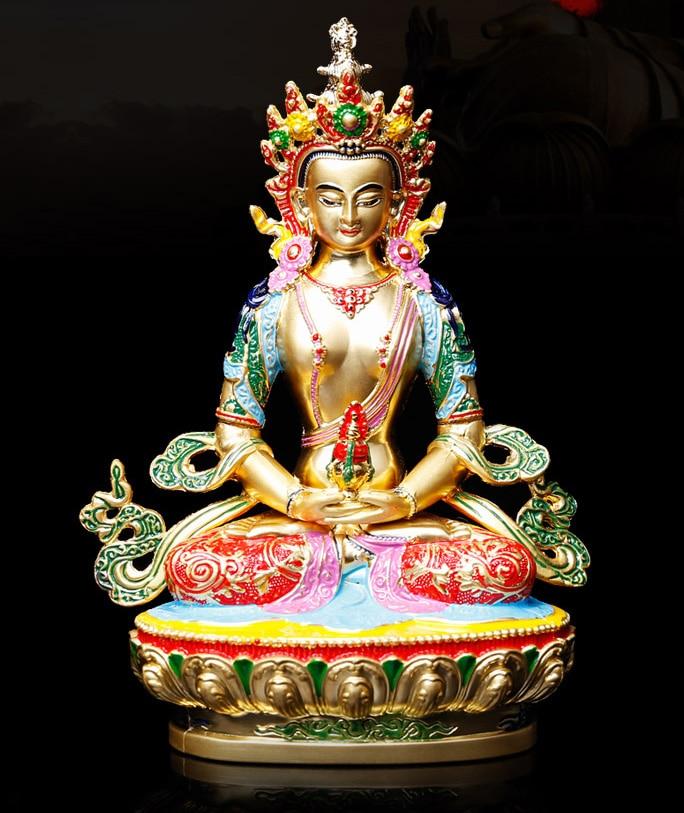 Special offer # HOME patron saint  Protection # Buddhism Buddha gilding Amitabha Amitayus Buddha brass statue