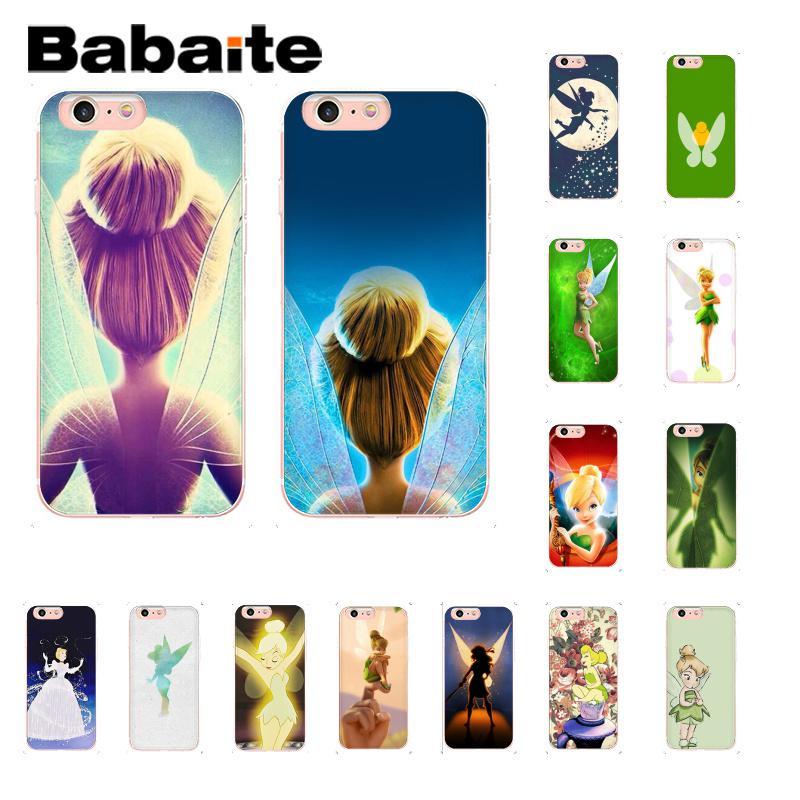 Babaite tinkerbell tinker bell Periwinkle suave de la caja del teléfono de silicona para iPhone 8 7 6 6S Plus 5 5S SE XR X XS X MAX 10 Coque Shell