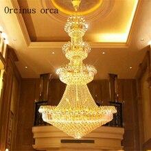 Kristallen kroonluchter penthouse grond woonkamer kroonluchter Europese stijl villa Hall Hotel kroonluchter lamp voor trappen
