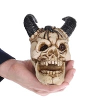 qt0002 silicone halloween skull silica gel mold 3d shofar skull head soap cake chocolate musse molds kitchen handmade soap mould