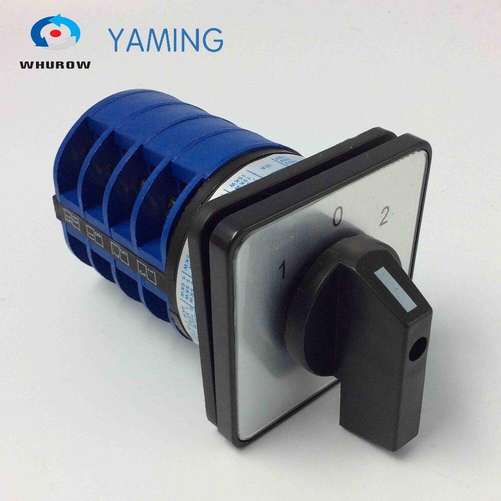 Yaming YMW26-32 elétrica/4 32A 4 pólos 3 posição de controle do circuito do motor Universal mudança knob rotary switch cam