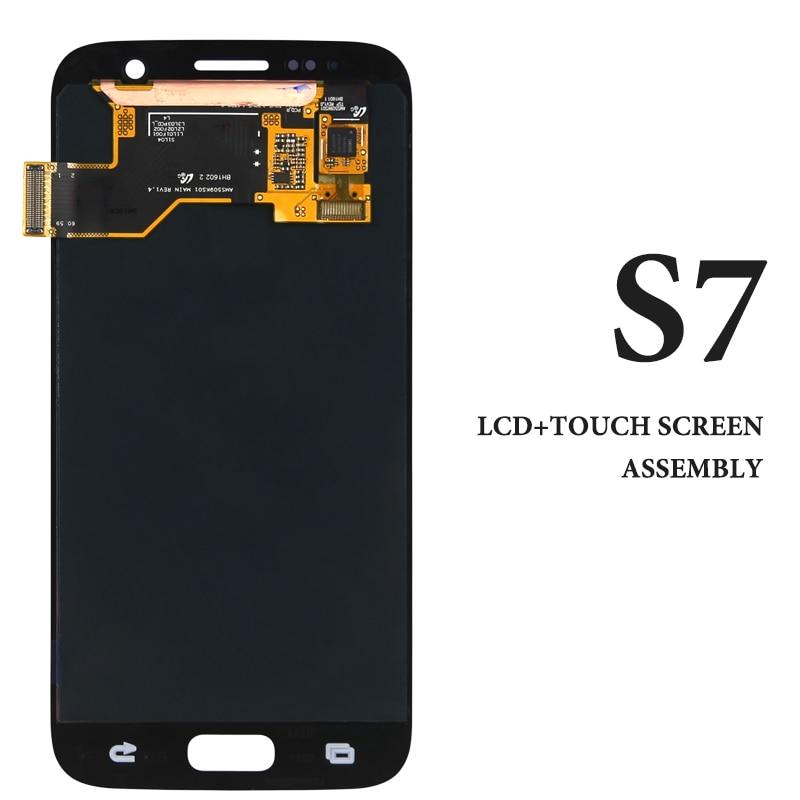 Original Spare Parts For Samsung S7 LCD Screen AMOLED G930 G930A G930V G930F Pantalla For Samsung S7 LCD Display