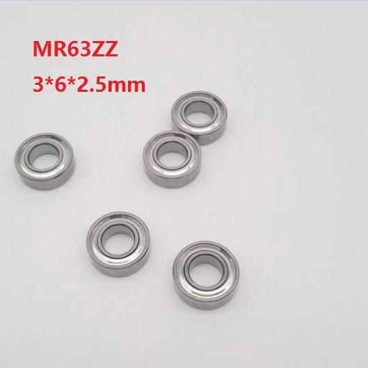 50/100/500 piezas MR63ZZ MR63 ZZ MR63 Z rodamiento de bolas de ranura profunda 3x6x2,5mm miniatura Mini MR63Z 3*6*6*2,5mm 673ZZ