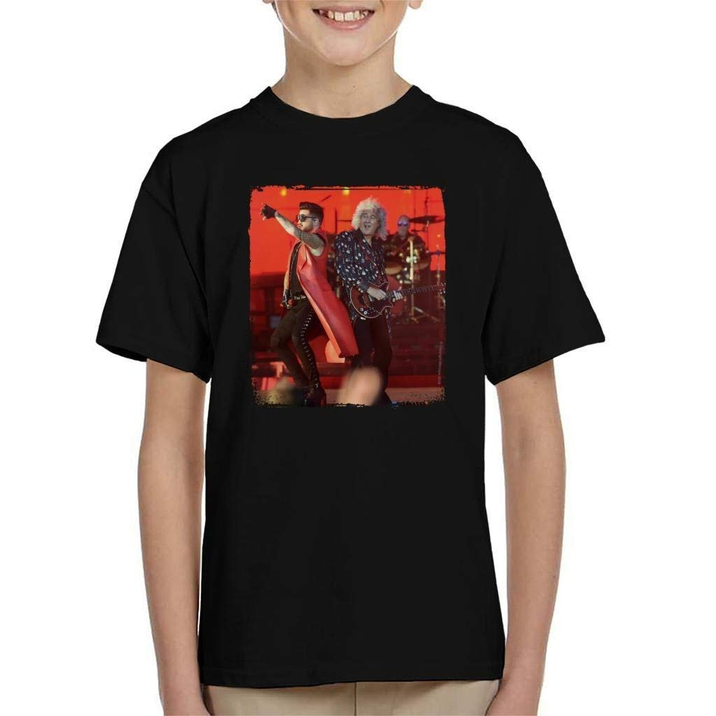 Camiseta de verano de manga corta con diseño de Reina con Adam Lambert at TRNSMT Festival chico