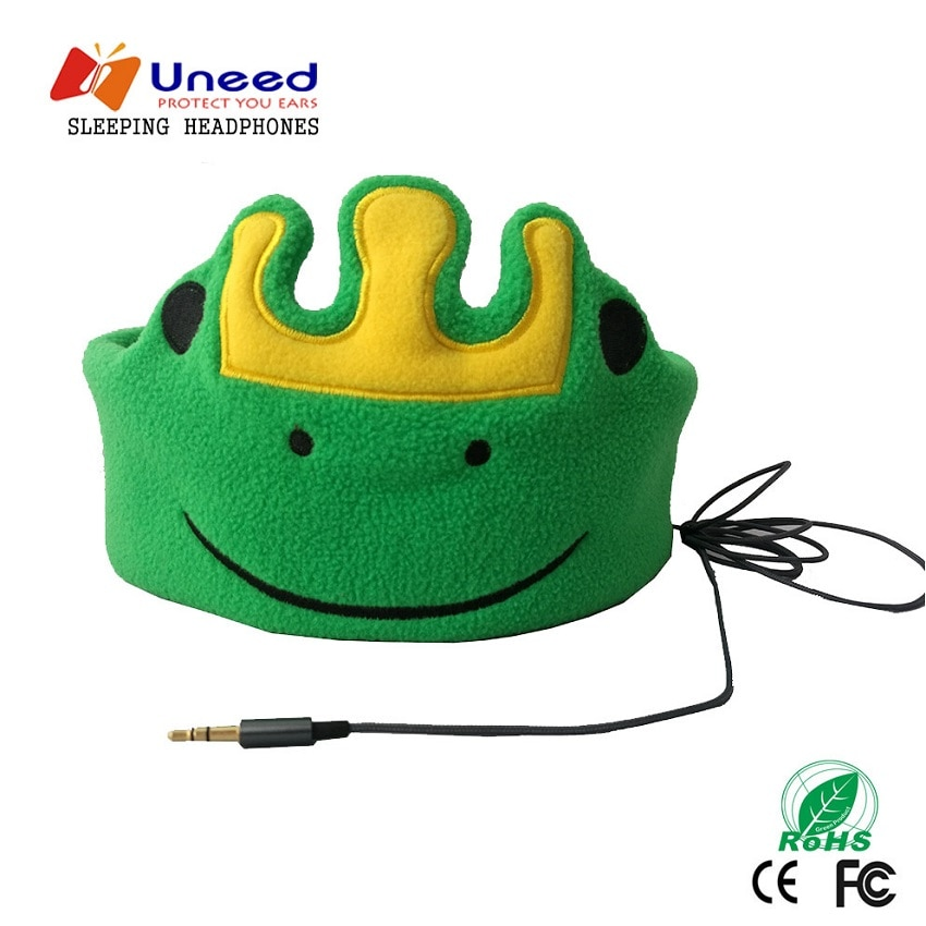 Uneed-auriculares de diadema infantil para niños, audífonos suaves de franela con diseño...