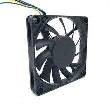 Tout nouveau ventilateur PWM slim 7010 R127010BU 70mm 10mm (épaisseur) DC 12 V 0.45A 7 cm grand ventilateur de refroidissement 5800 rpm