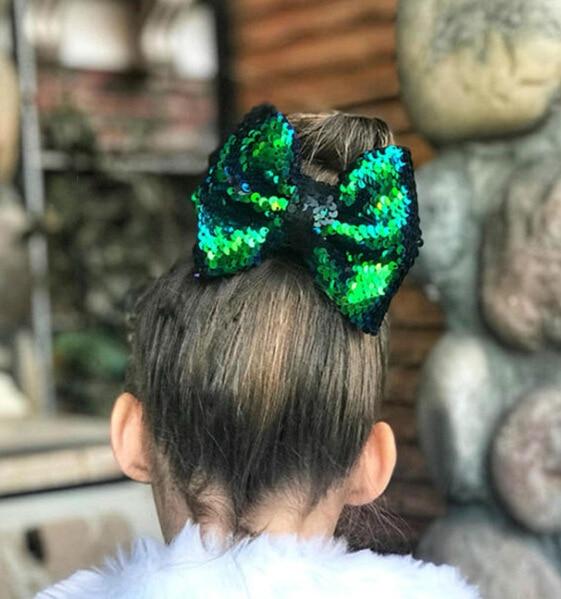 Clip de pelo Arco Iris para niñas recién nacidas, arco brillante con escamas de pescado, lazo con estampado de nudo, horquillas, accesorio para el cabello para niños pequeños