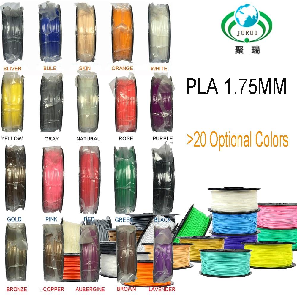 خيوط طابعة ثلاثية الأبعاد ، مستهلكات قلم PLA 1.75 مللي متر ، 1 كجم/2.2 رطل