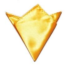 Mouchoir de couleur jaune or 2019   Serviette carrée, poche couleur unie, serviette en soie, chiffon
