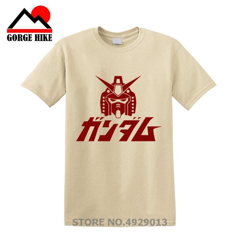 Coolprint Anime camisa móvil 2019 Gundam traje camisetas con alas de manga corta primero Gundam RX-78-2 Robots gigantes Cosplay Motivs camisas