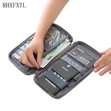 Rhxfxtl 브랜드 여권 커버 홀더 카드 패키지 신용 카드 소지자 지갑 주최자 여행 액세서리 문서 가방 카드 소지자