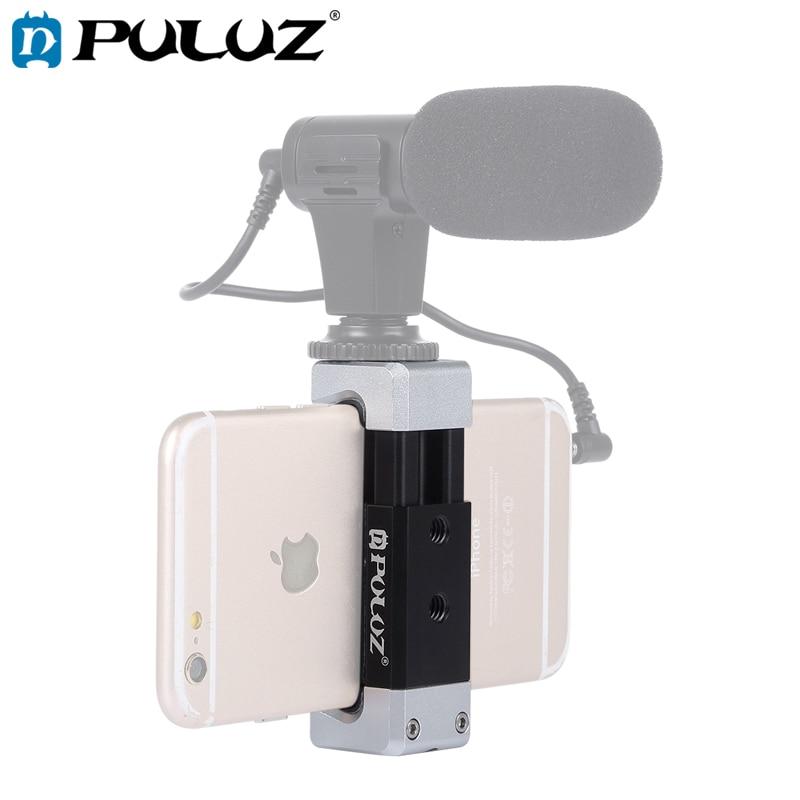 PULUZ-Soporte abrazadera Universal para telfono Zapata fra... aleacin de aluminio