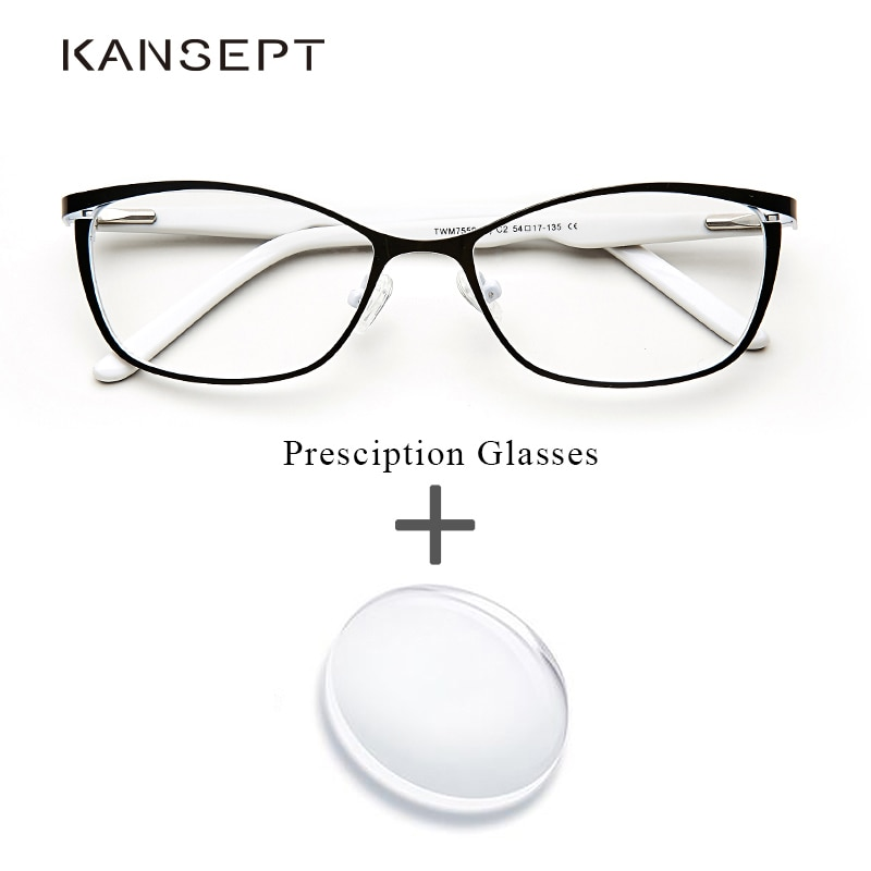 Metal Women Prescription Glasses Cat Eye Computer Myopia Oculos de grau feminino armacao Optical Eye