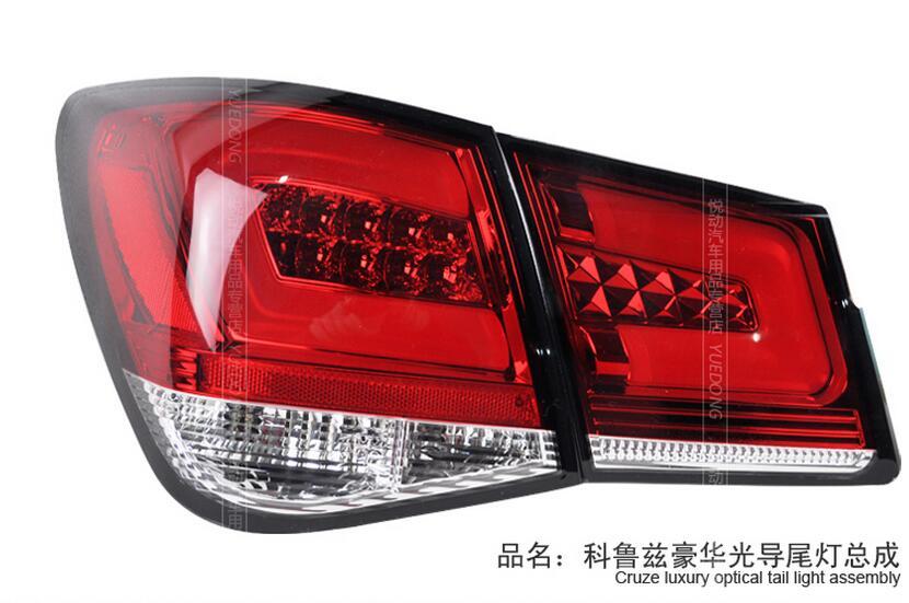 Luces traseras de coche hechas de Taiwán para luz trasera Chevrolet Cruze 2009 ~ 2013 LED Cruze luz trasera DRL + freno + Parque + torneado