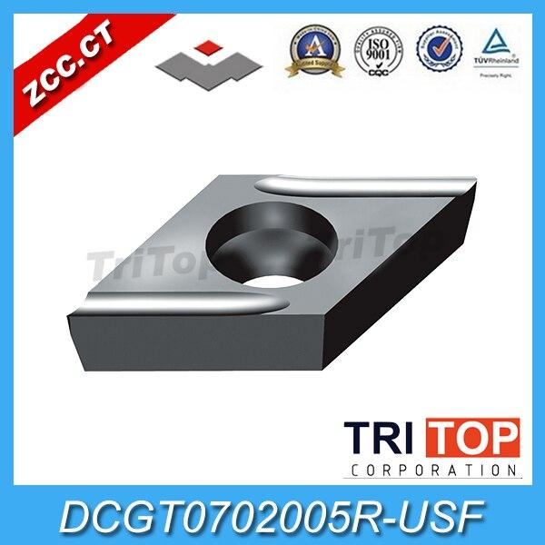 10 unidades/pacote Original ZCC. CT DCGT0702005R-USF YBG202 Metal Duro Virando Insert ferramenta cortador de parte das ferramentas CNC