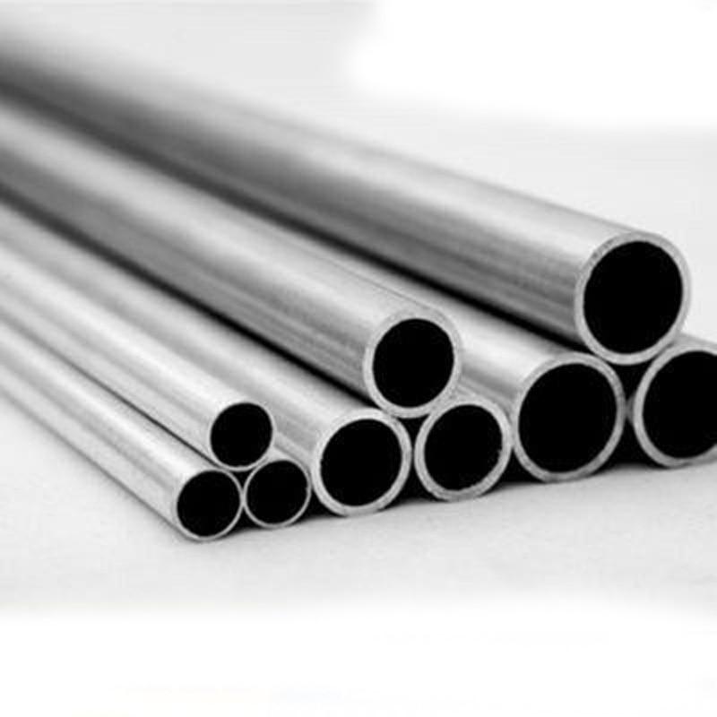 1 pces 7mm-26mm diâmetro interno tubo de alumínio liga oco al haste dura parafuso tubulação duto navio 100mm l 28mm-28.5mm od
