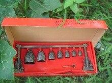 2 uds Gong de meditación chino con 7 campanas adornadas con estatua de diseño de dragón decoración de jardín 100% plata tibetana