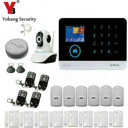 YobangSecurity Wireless WIFI 3G WCDMA/CDMA Smart Home Security Alarm Systems Kit Motion Sensor Door Alert with Wifi IP Camera