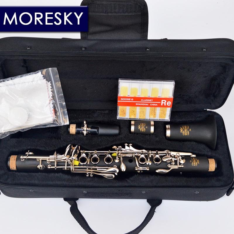 MORESKY Clarinet Eb tone soprano clarinet Hard Rubber Body Material eb
