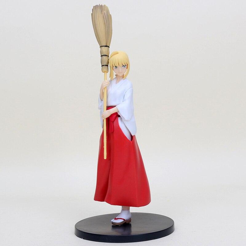 ¡21 cm 21cm de destino/hueco ataraxia Saber Miko ropa Ver! Figura de acción de PVC juguete de modelos coleccionables Fate Stay Night Saber bruja figura