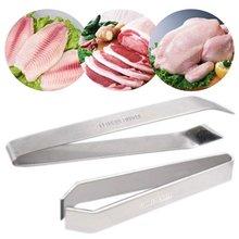 Dissolvant dos de poisson en acier   Inoxydable, pincettes à os de poisson, pinces pratiques enlèvement de la peau, pincettes outils pour fruits de mer 1 pièce